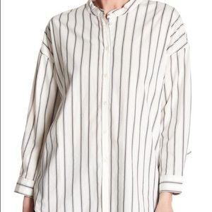 Joie Button Down Stripe Blouse Size S